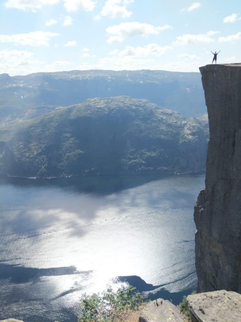 On top of the Preikestolen