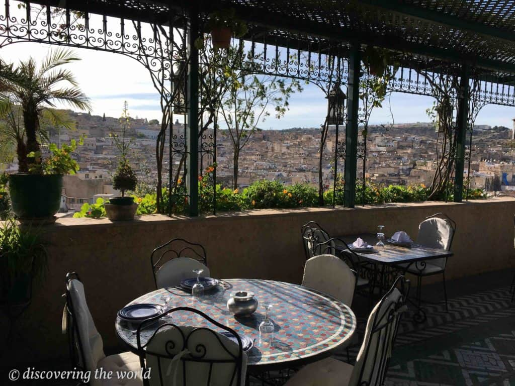 Dachterrasse des Hotels in Fes